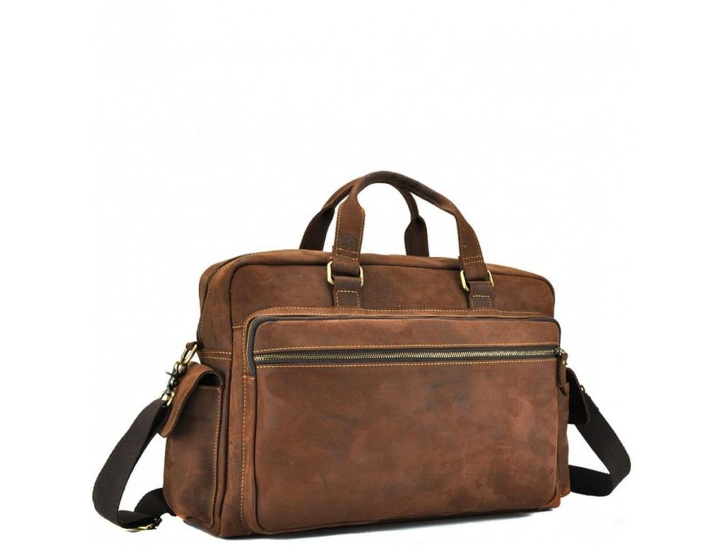 Мужская дорожная сумка из натуральной кожи с отделом для ноутбука Tiding Bag t0018 - Royalbag Фото 1