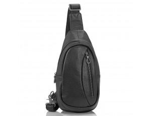 Сумка-слинг черная мужская Tiding Bag 10030A - Royalbag