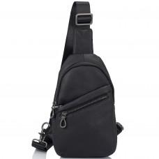Сумка-слинг черная мужская Tiding Bag 10031A - Royalbag