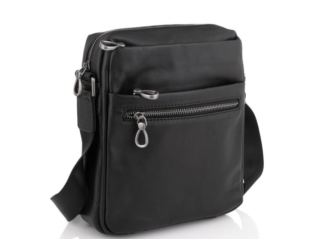 Сумка мужская кожаная черная Tiding Bag 1007A - Royalbag Фото 1