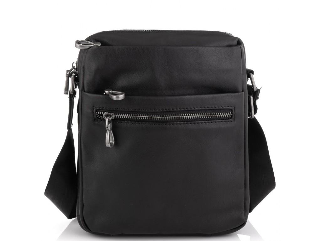 Сумка мужская кожаная черная Tiding Bag 1007A - Royalbag