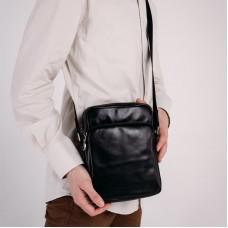Сумка мужская кожаная черная Tiding Bag 168A - Royalbag