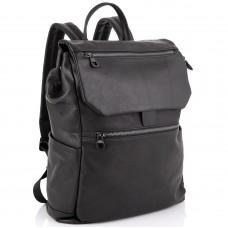 Чоловічий шкіряний рюкзак чорний Tiding Bag 303A - Royalbag