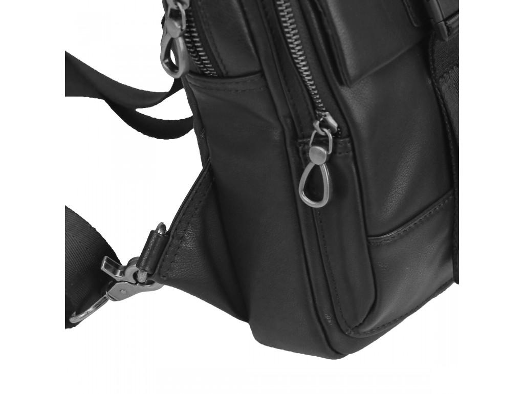 Сумка-слинг черная мужская Tiding Bag 312A - Royalbag