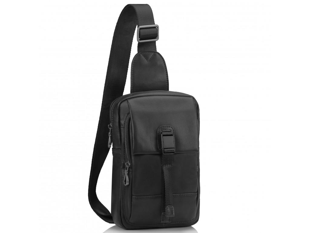 Сумка-слинг черная мужская Tiding Bag 312A - Royalbag Фото 1