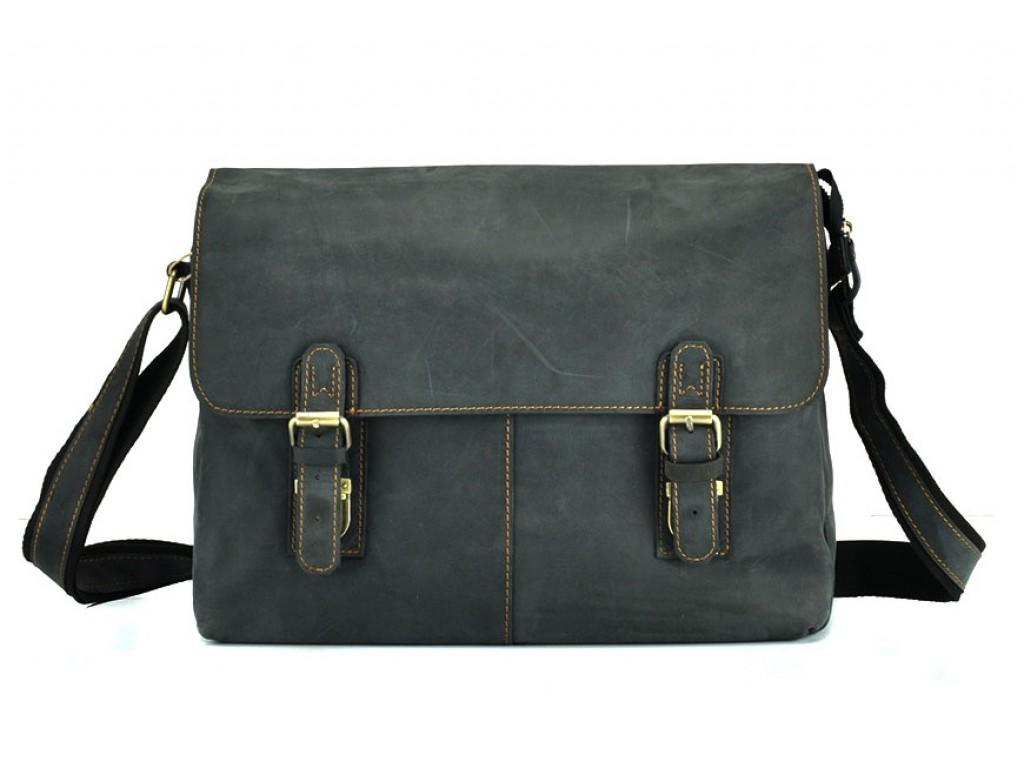 Мессенджер черный через плече Tiding Bag 6002A-1 - Royalbag