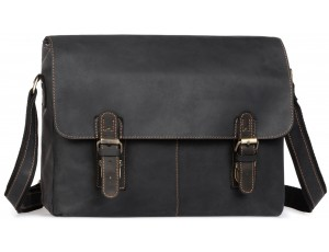 Мужская сумка через плечо из натуральной кожи винтажная Tiding Bag 6002LA-2 - Royalbag