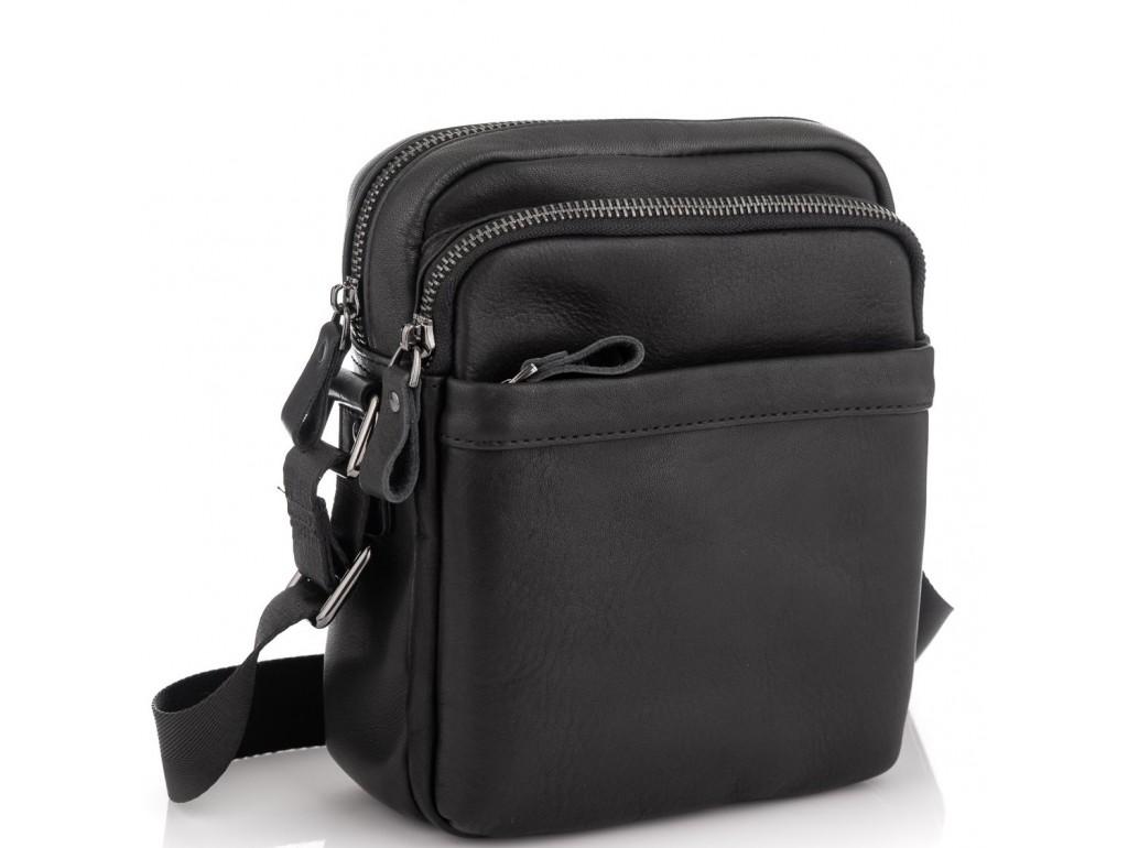 Мужская сумка через плечо черная Tiding Bag 6027A - Royalbag Фото 1