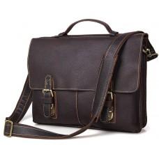 Качественная сумка-портфель мужская кожаная TIDING BAG 7090R - Royalbag