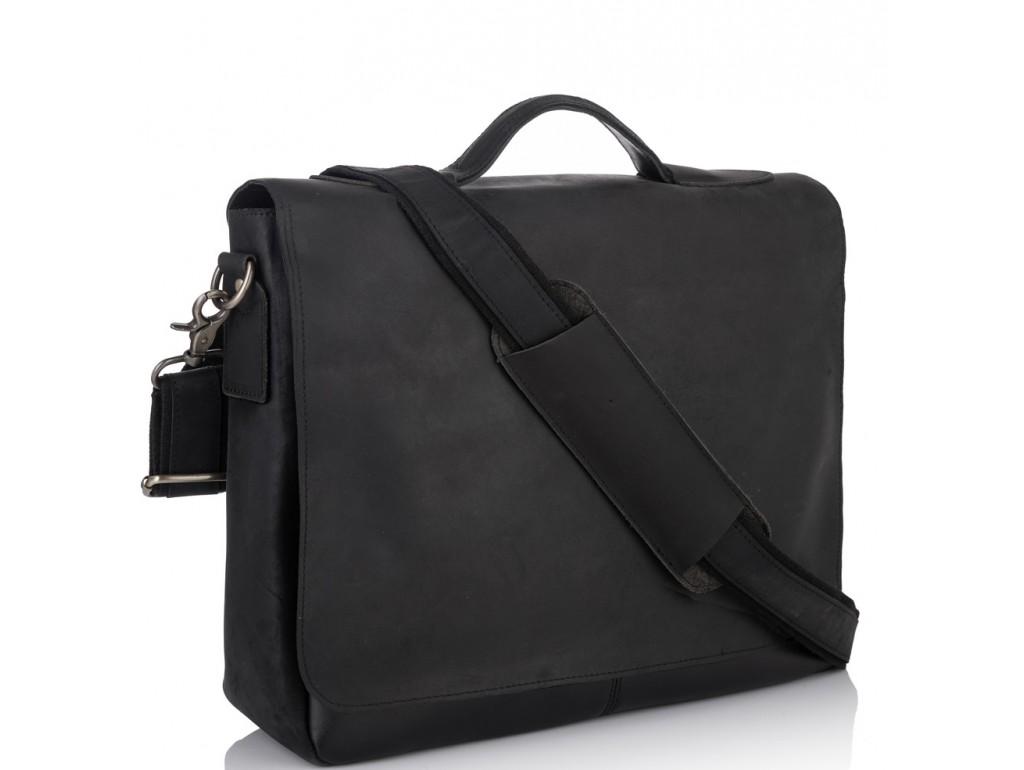 Мужской кожаный мессенджер через плечо для ноутбука и документов Tiding Bag 7108A-1 - Royalbag Фото 1