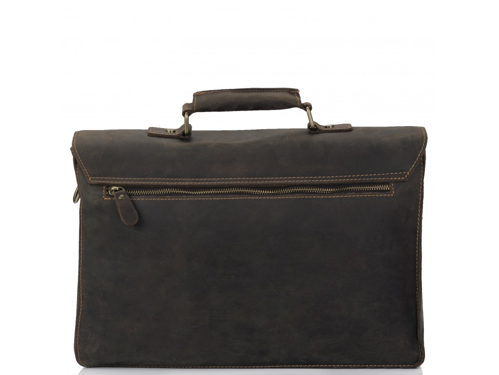 Портфель мужской кожаный в винтажном стиле Tiding Bag 7205R - Royalbag