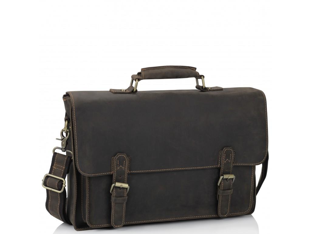 Портфель мужской кожаный в винтажном стиле Tiding Bag 7205R - Royalbag Фото 1
