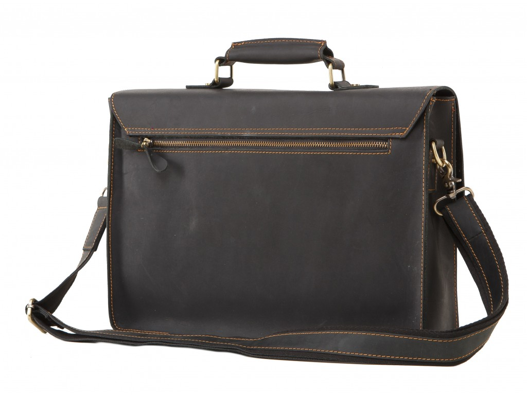 Мужской кожаный портфель с отделом для ноутбука Tiding Bag 7205A - Royalbag