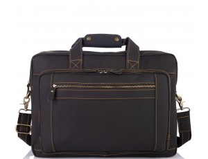 Мужская кожаная деловая сумка для поездок много отделов Tiding Bag 7367RA - Royalbag