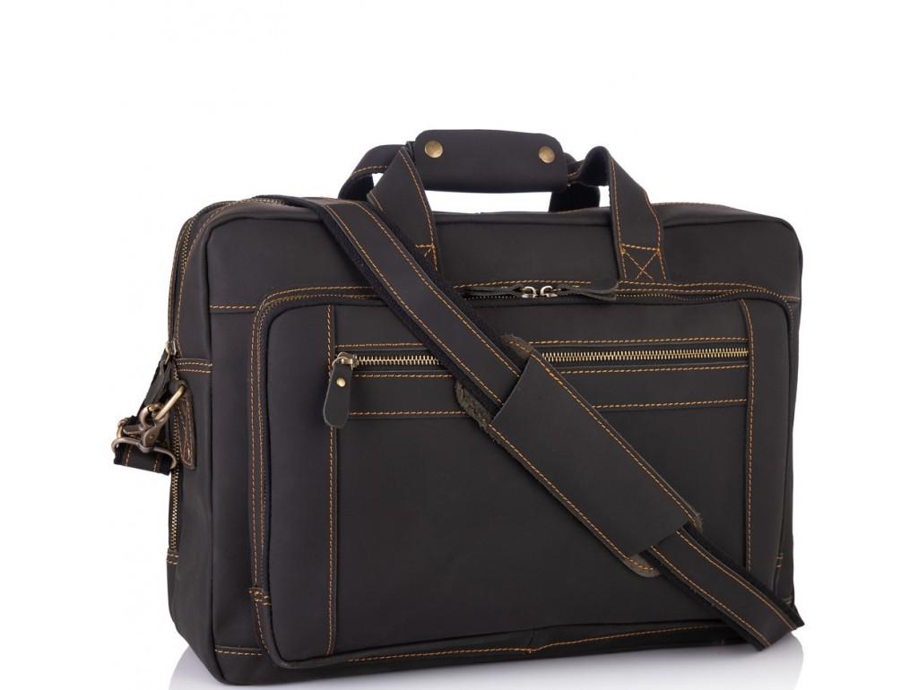 Мужская кожаная деловая сумка для поездок много отделов Tiding Bag 7367RA - Royalbag Фото 1