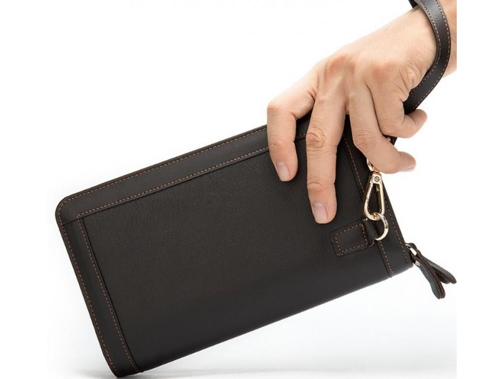 Клатч коричневый Tiding Bag 8023C - Royalbag