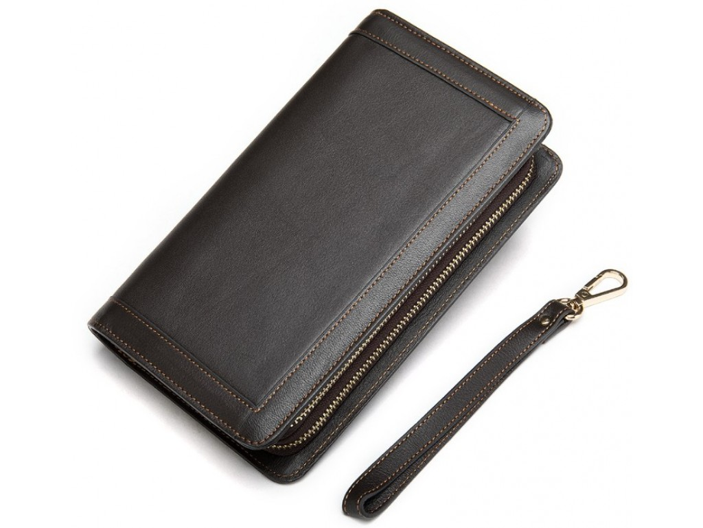 Клатч коричневый Tiding Bag 8023C - Royalbag Фото 1