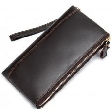 Коричневий клатч Tiding Bag 8027C - Royalbag Фото 2