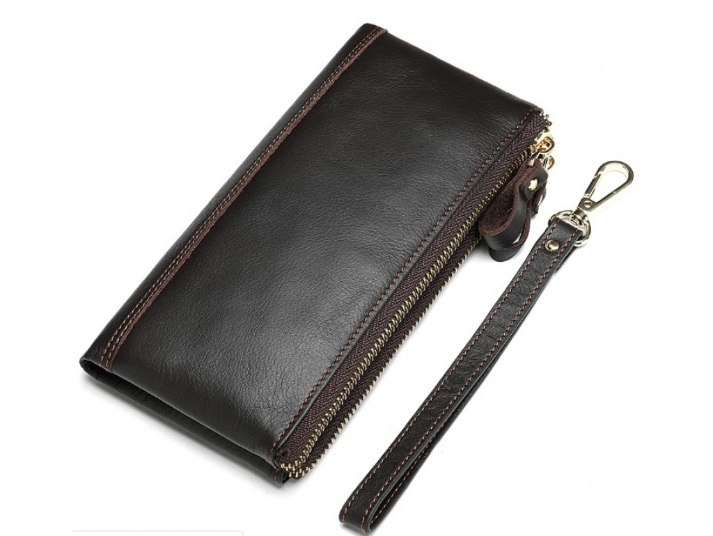 Коричневий клатч Tiding Bag 8027C - Royalbag