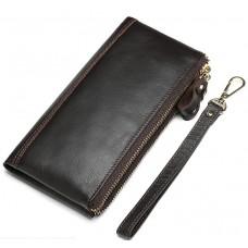 Коричневый клатч Tiding Bag 8027C - Royalbag