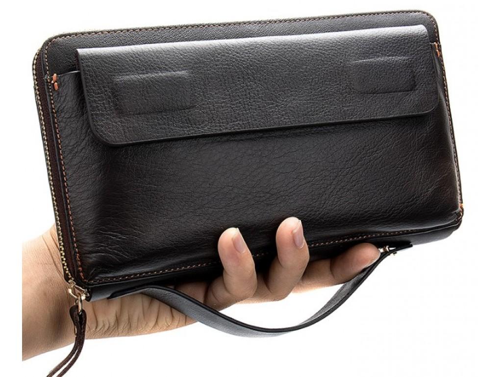 Клатч коричневый Tiding Bag 8039C - Royalbag