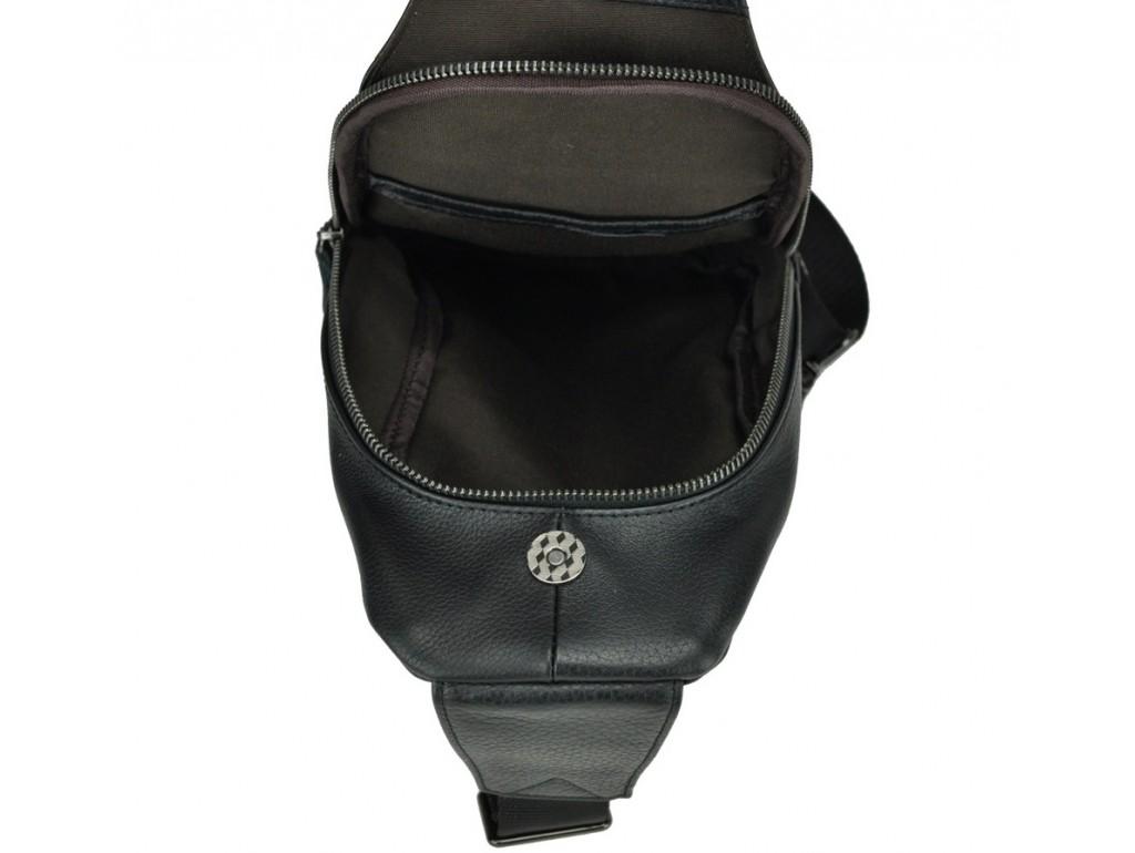 Мужской кожаный рюкзак-слинг на груди Tiding Bag 8436A