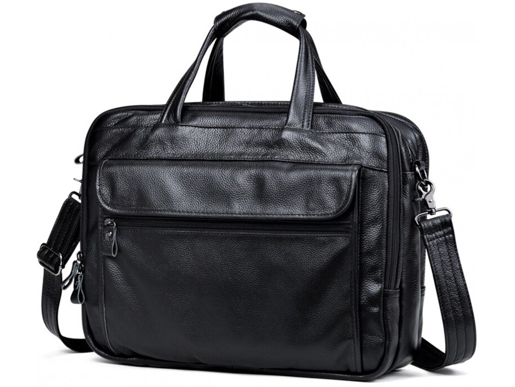 Мужская кожаная сумка на три отдела Tiding Bag A25F-9001А - Royalbag