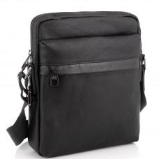 Классическая мужская кожаная сумка через плечо черная Tiding Bag 8721A - Royalbag Фото 2