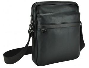 Классическая мужская кожаная сумка через плечо черная Tiding Bag 8721A - Royalbag