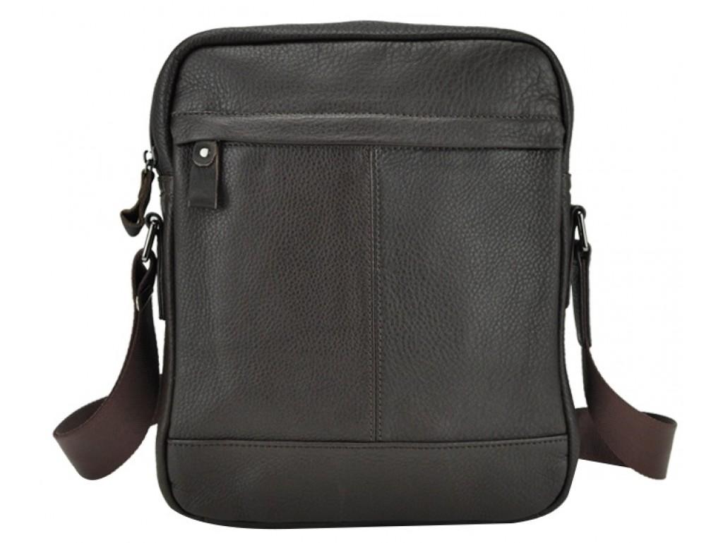 Мужская сумка через плечо из натуральной кожи коричневая Tiding Bag 8840C