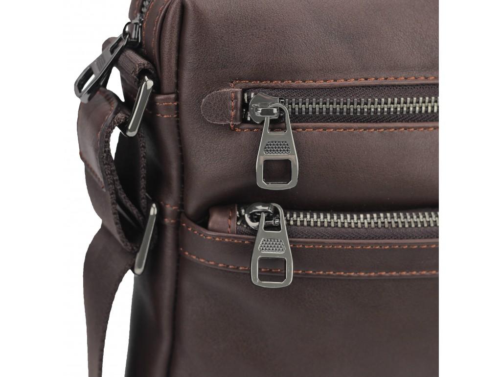 Чоловіча шкіряна сумка через плече коричнева Tiding Bag 9830B - Royalbag