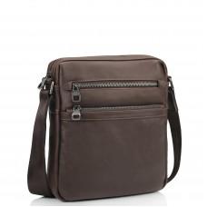 Мужская кожаная сумка через плечо коричневая Tiding Bag 9830B - Royalbag