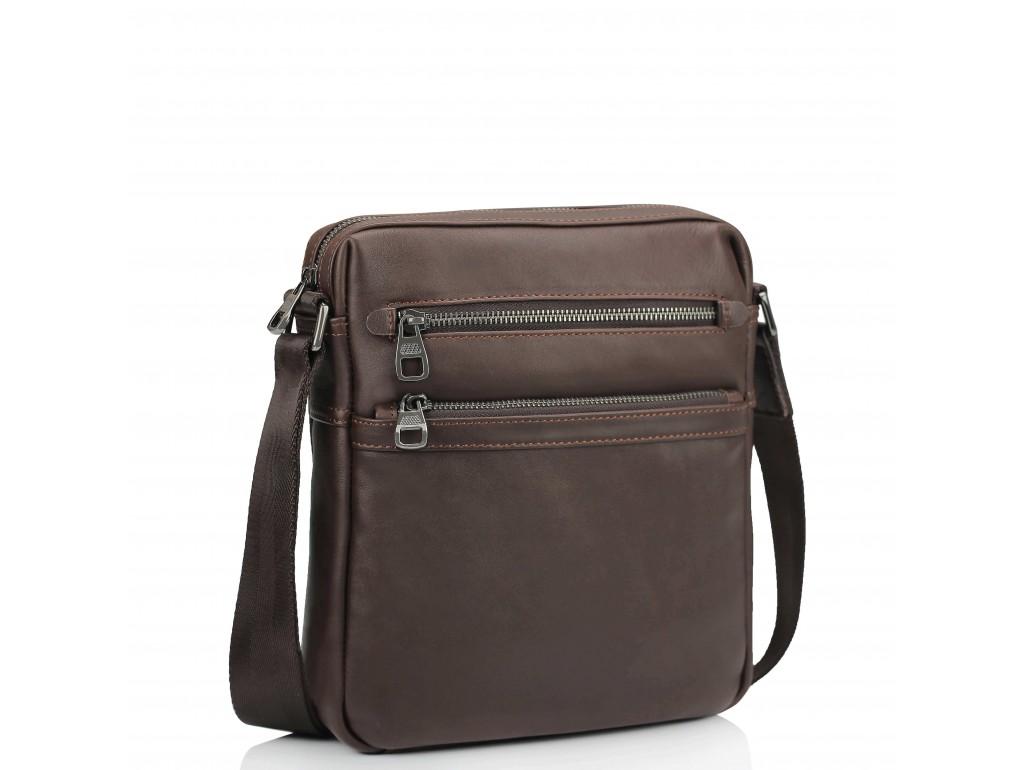 Чоловіча шкіряна сумка через плече коричнева Tiding Bag 9830B - Royalbag Фото 1