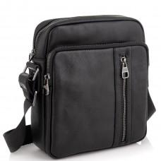Мессенджер через плечо мужской кожаный черный Tiding Bag 9836A - Royalbag Фото 2