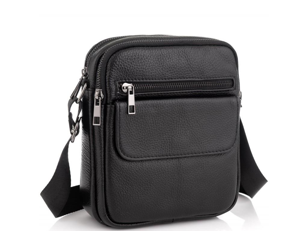 Мужская кожаная сумка через плечо маленькая Tiding Bag A25-1108A - Royalbag Фото 1