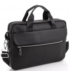 Сумка для ноутбука кожаная мужская черная Tiding Bag A25-1127A - Royalbag
