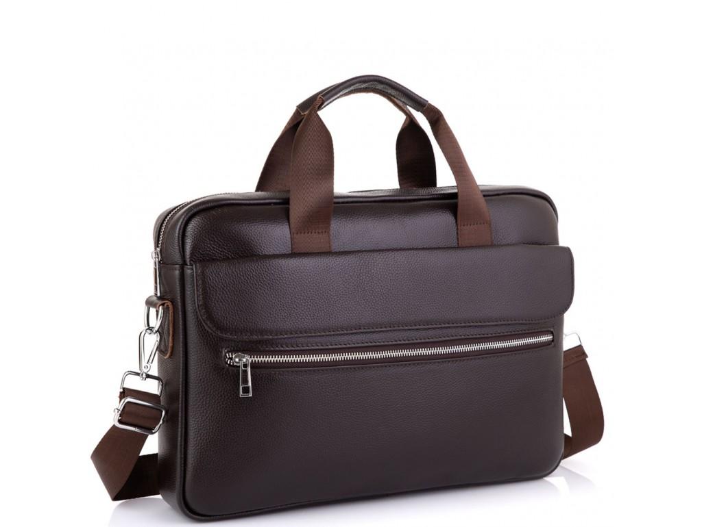 Сумка для ноутбука кожаная мужская Tiding Bag A25-1127C - Royalbag Фото 1