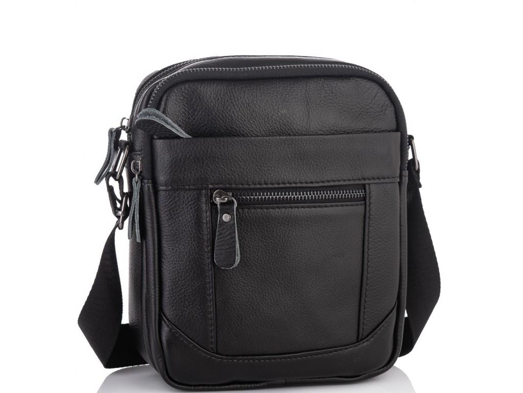 Мужская кожаная сумка через плечо маленькая Tiding Bag A25-223A - Royalbag Фото 1