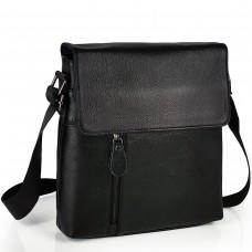 Мужской кожаный мессенджер с клапаном Tiding Bag A25-238-1A - Royalbag Фото 2