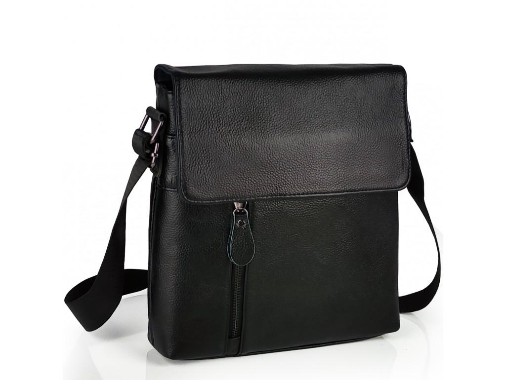 Мужской кожаный мессенджер с клапаном Tiding Bag A25-238-1A - Royalbag Фото 1