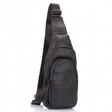 Мужская сумка-слинг коричневая Tiding Bag A25-5021C - Royalbag