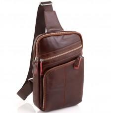 Мужской кожаный слинг через плечо Tiding Bag A25-6896R - Royalbag
