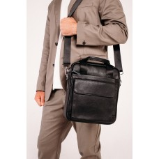 Сумка мужская кожаная вертикальная под А4 Tiding Bag A25-8861A - Royalbag