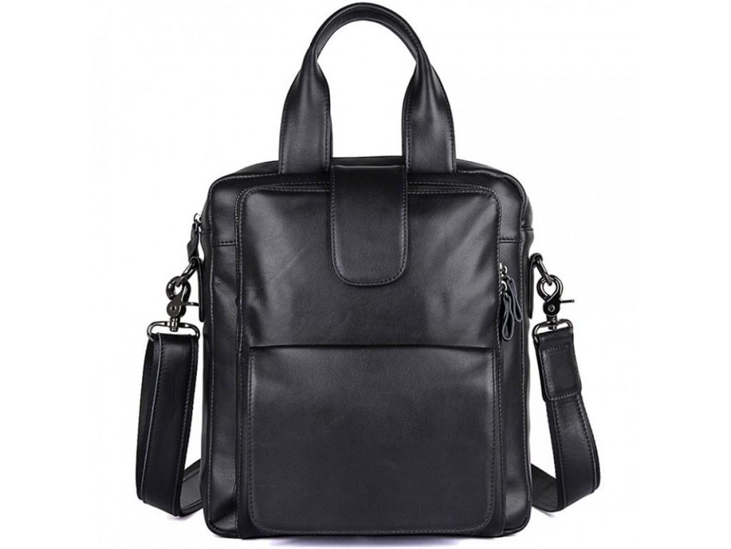 Вертикальная мужская сумка через плечо кожаная  Tiding Bag 7266A - Royalbag Фото 1