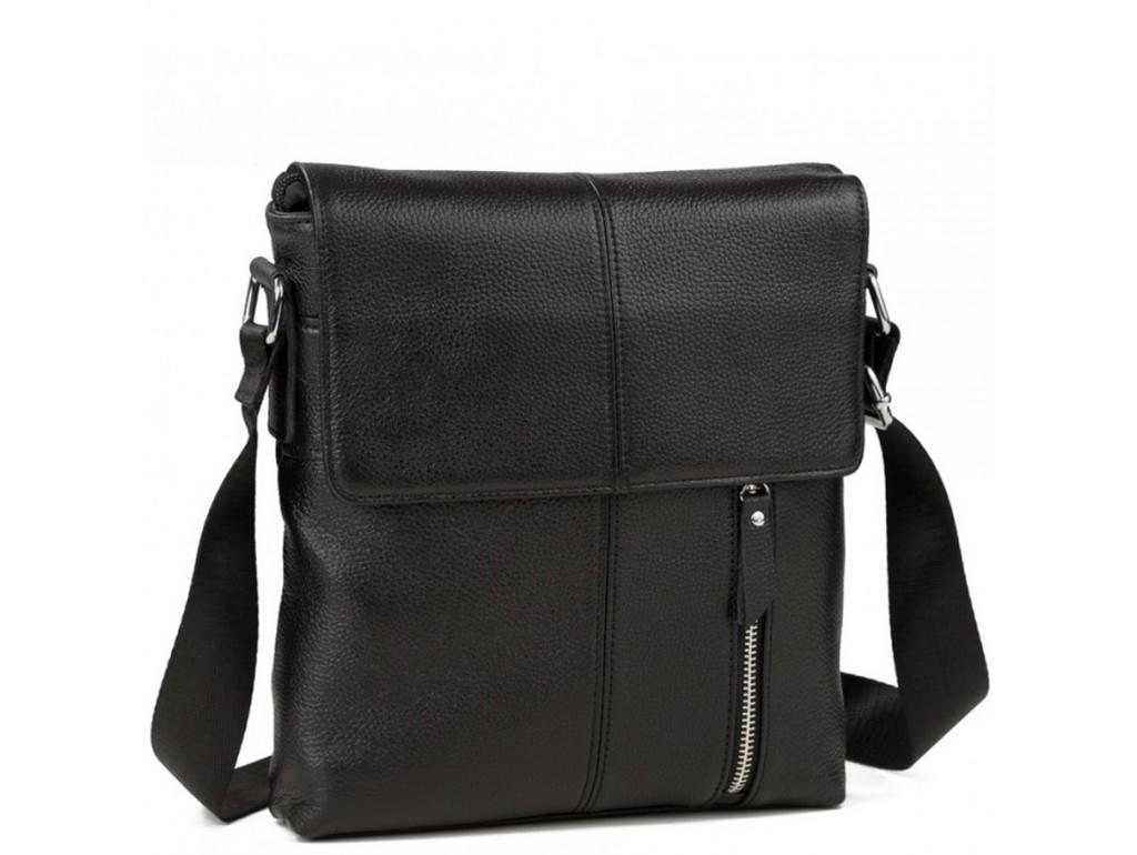 Мессенджер черный через плечо Tiding Bag A25-238A - Royalbag Фото 1