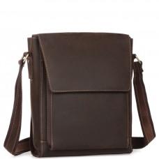 Мужская сумка-мессенджер через плечо из матовой винтажной кожи Tiding Bag 7055DB - Royalbag Фото 2