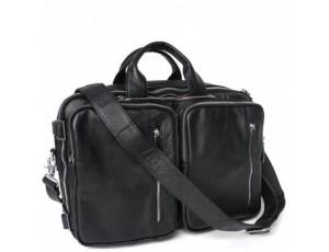 Мужская кожаная сумка-трансформер 3 в 1 Jasper&Maine 7041A - Royalbag
