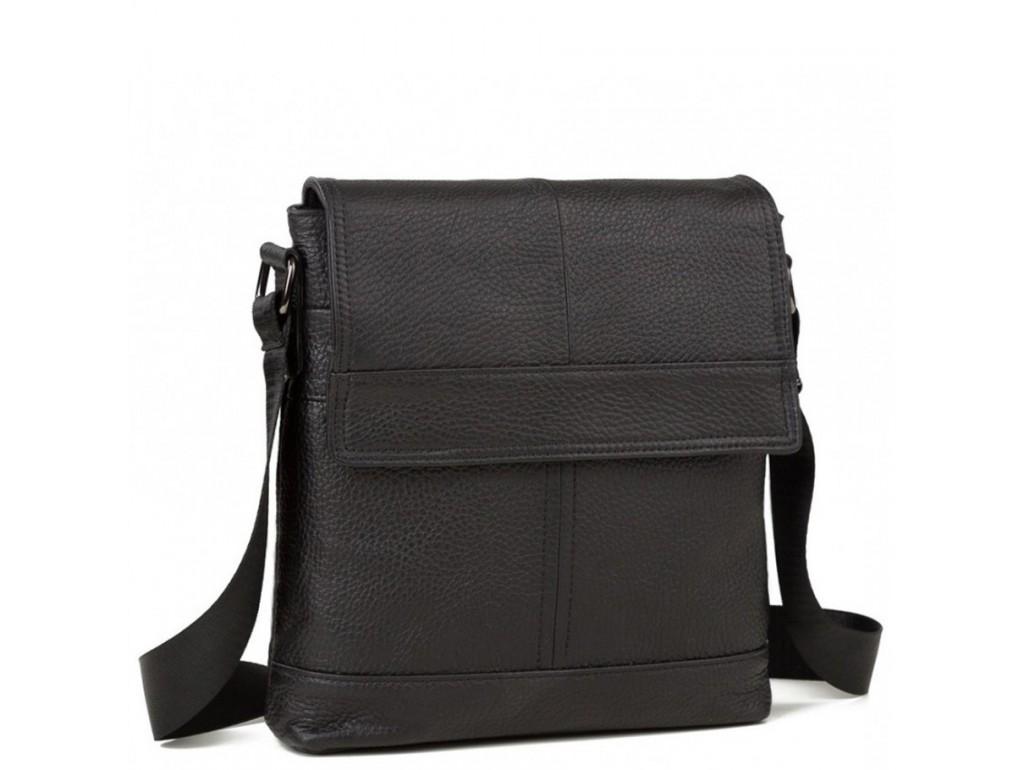 Наплечная мужская сумка кожаная с клапаном Tiding Bag M38-3822A - Royalbag Фото 1