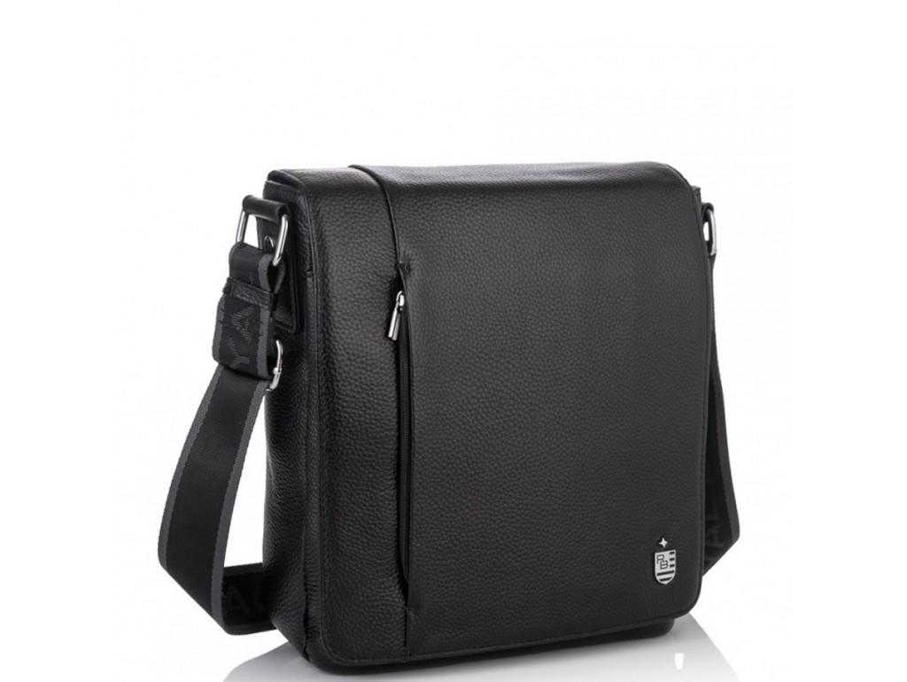 Кожаная мужская сумка через плечо с клапаном Royal Bag RB70011 - Royalbag Фото 1