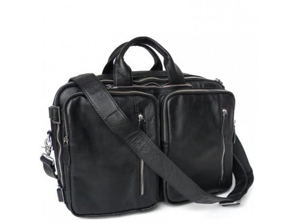 Мужская кожаная сумка-трансформер 3 в 1 Jasper&Maine 7041A - Royalbag Фото 1